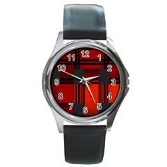 Hintergrund Tapete Round Metal Watch