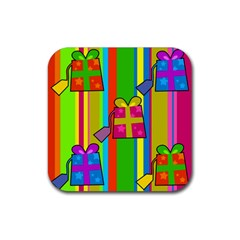 Holiday Gifts Rubber Coaster (Square)
