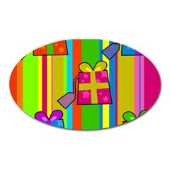 Holiday Gifts Oval Magnet