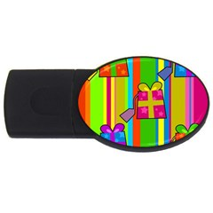 Holiday Gifts USB Flash Drive Oval (1 GB)