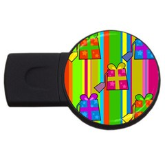 Holiday Gifts USB Flash Drive Round (4 GB)