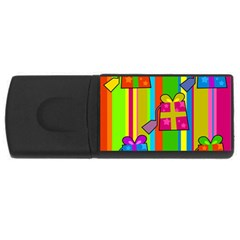 Holiday Gifts USB Flash Drive Rectangular (4 GB)