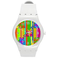 Holiday Gifts Round Plastic Sport Watch (M)