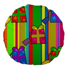 Holiday Gifts Large 18  Premium Round Cushions