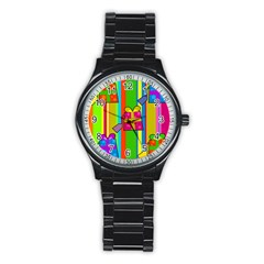 Holiday Gifts Stainless Steel Round Watch