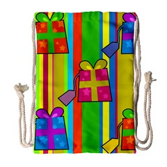Holiday Gifts Drawstring Bag (Large)
