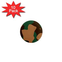 Military Camouflage 1  Mini Magnet (10 pack)