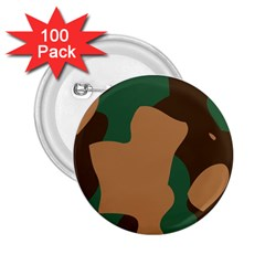 Military Camouflage 2.25  Buttons (100 pack)