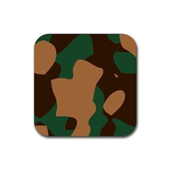 Military Camouflage Rubber Coaster (Square)
