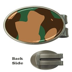 Military Camouflage Money Clips (Oval)