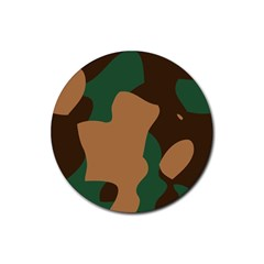 Military Camouflage Rubber Round Coaster (4 pack)