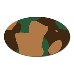 Military Camouflage Oval Magnet