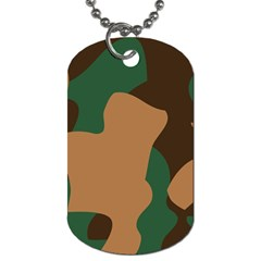 Military Camouflage Dog Tag (Two Sides)