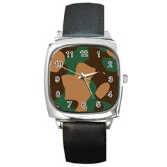 Military Camouflage Square Metal Watch