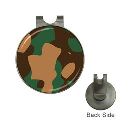 Military Camouflage Hat Clips with Golf Markers