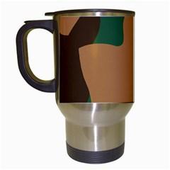 Military Camouflage Travel Mugs (White)