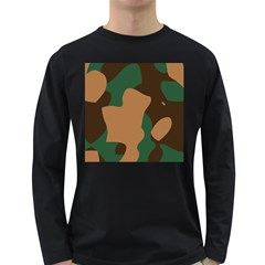 Military Camouflage Long Sleeve Dark T-Shirts