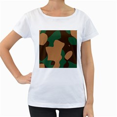 Military Camouflage Women s Loose-Fit T-Shirt (White)