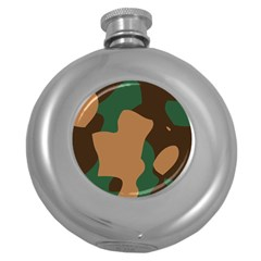 Military Camouflage Round Hip Flask (5 oz)