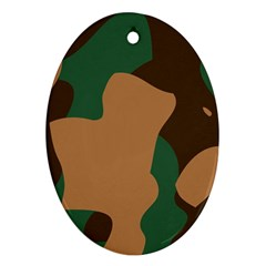 Military Camouflage Oval Ornament (Two Sides)