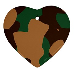 Military Camouflage Heart Ornament (Two Sides)