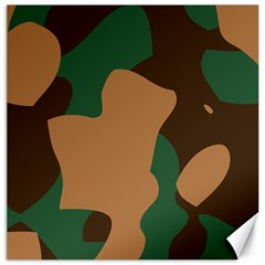 Military Camouflage Canvas 20  x 20