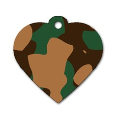 Military Camouflage Dog Tag Heart (One Side)