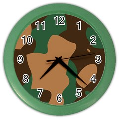 Military Camouflage Color Wall Clocks