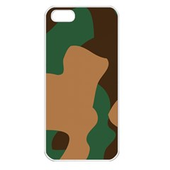 Military Camouflage Apple iPhone 5 Seamless Case (White)
