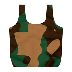Military Camouflage Full Print Recycle Bags (L)