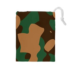 Military Camouflage Drawstring Pouches (Large)