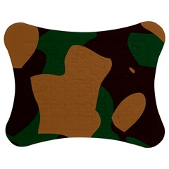 Military Camouflage Jigsaw Puzzle Photo Stand (bow)