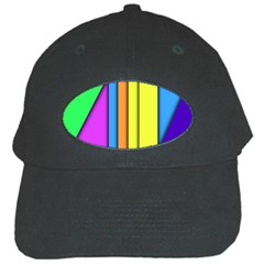 More Color Abstract Pattern Black Cap