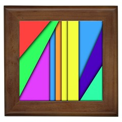 More Color Abstract Pattern Framed Tiles