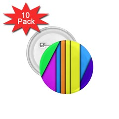 More Color Abstract Pattern 1.75  Buttons (10 pack)
