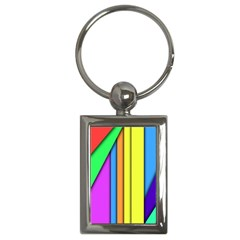 More Color Abstract Pattern Key Chains (Rectangle)
