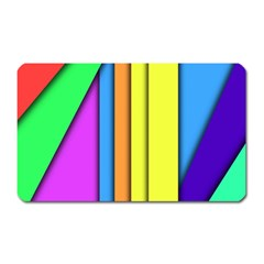 More Color Abstract Pattern Magnet (Rectangular)