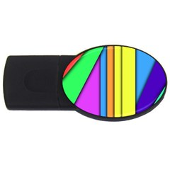 More Color Abstract Pattern USB Flash Drive Oval (1 GB)