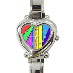 More Color Abstract Pattern Heart Italian Charm Watch