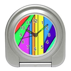 More Color Abstract Pattern Travel Alarm Clocks
