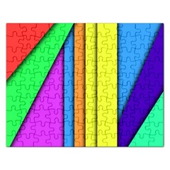 More Color Abstract Pattern Rectangular Jigsaw Puzzl