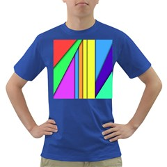More Color Abstract Pattern Dark T-Shirt