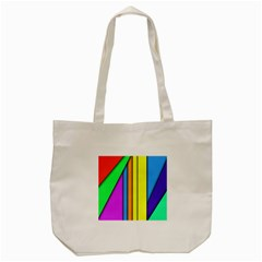 More Color Abstract Pattern Tote Bag (Cream)