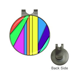More Color Abstract Pattern Hat Clips with Golf Markers