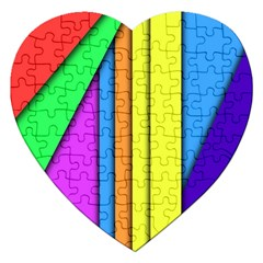 More Color Abstract Pattern Jigsaw Puzzle (Heart)