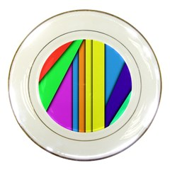 More Color Abstract Pattern Porcelain Plates