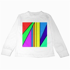 More Color Abstract Pattern Kids Long Sleeve T-Shirts
