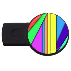 More Color Abstract Pattern USB Flash Drive Round (4 GB)