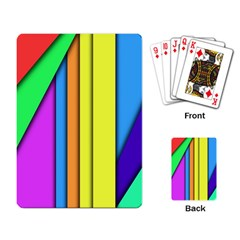 More Color Abstract Pattern Playing Card