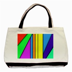More Color Abstract Pattern Basic Tote Bag (Two Sides)